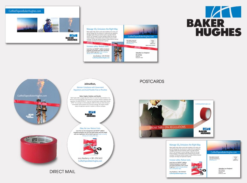 Direct Mail and Postcards for Baker Hughes SULFIX Hydrogen Sulfide Scavengers