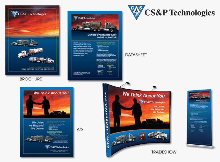 Brochure, Ad, Datasheet, Tradeshow Booth for CS&P Technologies