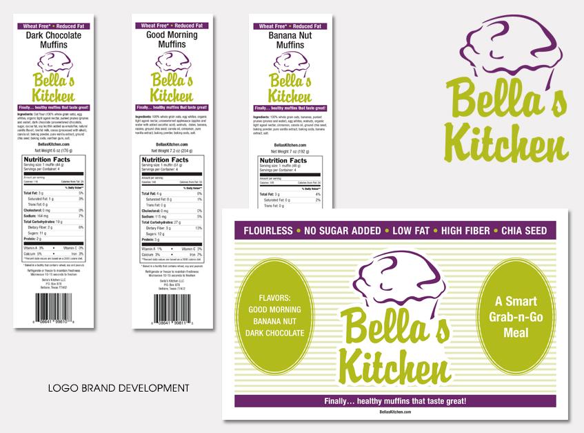 Logo Brand Development for Bella's Kitchen