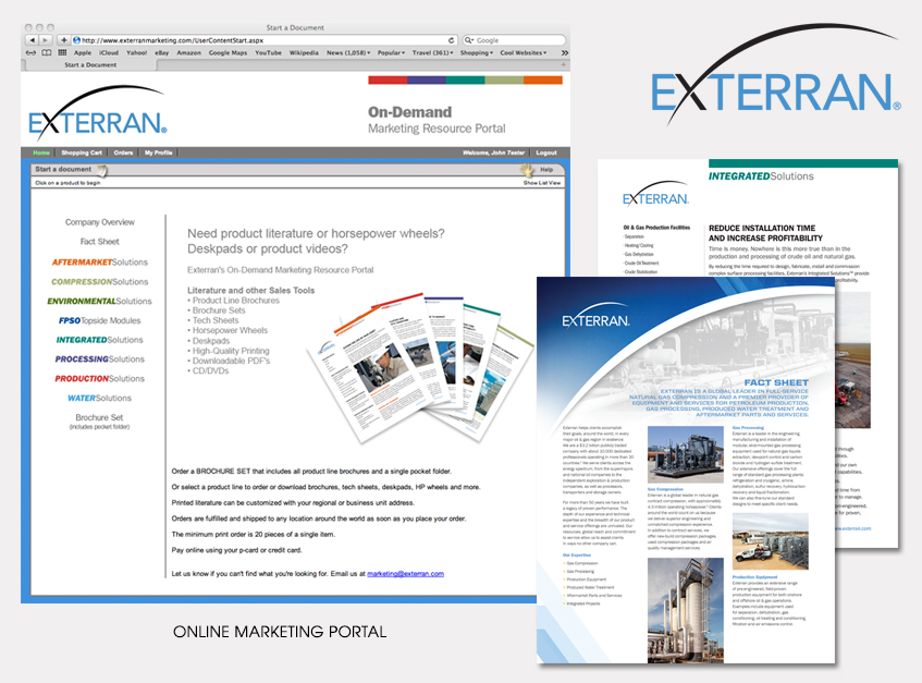 Online Marketing Portal for Exterran