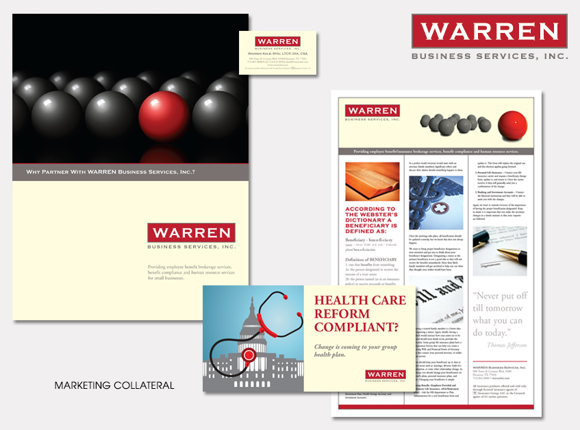 Marketing Collateral for WARREN Busines Services, Inc.